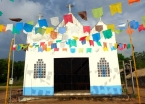 Community church in Maguarí, Brazilian Amazon.