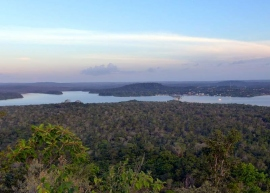 Vista from one of the surrounding hills of Alter do Chão and Laguna Verde, an inlet of the Rio Tapajós where it meets the Rio Amazonas.