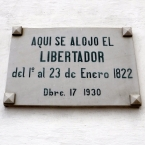 Simon Bolívar slept here... South America's legendary liberator certainly got around