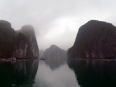 The monumental limestone cliffs in Lan Ha Bay, a place of singular beauty.