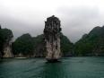 Yet another amazing limestone karst in Ha Long Bay.