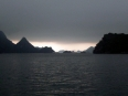 Coming rain in Ha Long Bay.