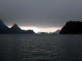 Coming rain in Ha Long Bay.