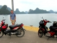 Overlooking Ha Long Bay at Tuan Chau port on the northern end of Cat Ba Island.