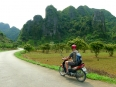 Motorbiking through Cat Ba Island, Vietnam.