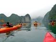 Red Armada: our group paddling in Lan Ha Bay, Vietnam.