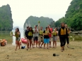Our kayak group resting on an isolated beach in Lan Ha Bay, Vietnam.