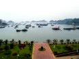 Our view from the Seaview Hotel in Cat Ba town.  Perhaps the best $15 hotel room ever!
