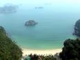 On Cannon Fort atop Cat Ba town, overlooking Cat Co 2 beach in Lan Ha Bay, Vietnam.