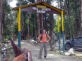 At the trailhead in the Parque Ecoturístico Pairumani