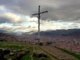 Christian cross above the city of Cusco