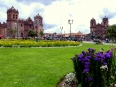 The stately Plaza de Armas in central Cusco. In Incan times this was the