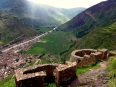 Soaring military lookouts on the Inca trail above Pisaq in the Sacred Valley
