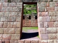 Perfect trapezoidal doorways at Pisaq, an exceptional example of the fine Inca stonework