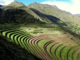 The magnificent terracing of Pisaq: it seems the Incas carved the mountains of the Sacred Valley