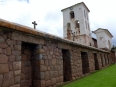 A Christian church built atop an Inca temple in Chinchero,