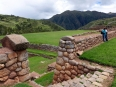 At the Inca's estate: monumental gardens leading to the agricultural terraces in Chinchero