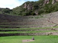 My Spanish friend Emili meditating at the center of the Moray terraces, a supposed energy center