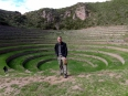 Me above the Moray terraces, it seems more like a coliseum than a center for experimental farming