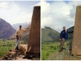 Paul in 1999, Peter in 2012: At the Temple of the Sun in Ollantaytambo