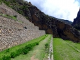 Straight-edged terraces tame the mountainside at Ollantaytambo
