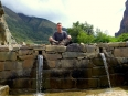 Atop the peaceful fountains in the now restored gardens at Ollantaytambo