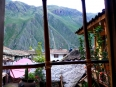 Room with a View: My bedroom at Hostal Rumi Wasi overlooking the majestic Andes in the Sacred Valley
