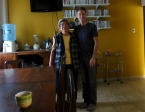 With our helper Doña Beni who I always had coffee with each morning (we were the early risers)... every day I asked her