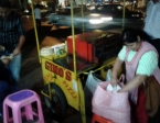"When I was lazy and not wanting to cook in the evening, I took to the streets.  My favorite was ""Gino's"", a roving cart where I could buy tasty $1 vegetarian pizzas."