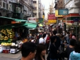 Busy market streets of Hong Kong, little elbow room outside of the green spaces