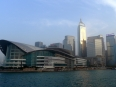 """Hong Kong Island waterfront, note the """"seagull""""shaped building to the left"""