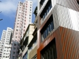 Variety of architectural styles seen in Hong Kong