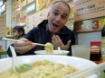 Our first meal in Hong Kong: hot noodle soup was the perfect treat for our hungry, jet-lagged stomachs