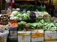 Veggie delights in a Hong Kong market