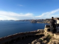 Views of Lake Titicaca from Cerro Calavario above Copacabana