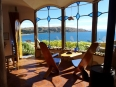Stunning views of Lake Titicaca from our cabin in Copacabana, not bad for $40 USD a night!