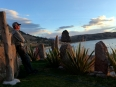 Taking a moment to witness the magnificent sunsets over Lake Titicaca