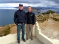 Peter and Paul together at the top of Isla del Sol, a marvelous moment!