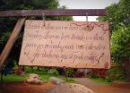 """""""When the last tree is felled, when the last river is dry, and when the last fish is caught, you will then learn that you can't eat money. """" Placard at one of the nature parks we visited in Chapada Diamantina"""
