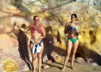 Natural colored mud on the cliffs outside Morro de São Paulo make for some body-painting fun