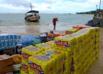 On the loading dock: beer and other provisions are unloaded right on the beaches of Morro de São Paulo