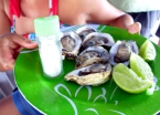 Fresh oysters plucked from the fresh Atlantic waters off Tinharé Island... muito gostoso!