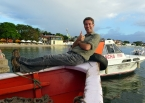 On the boat from mainland Brazil headed to Morro de São Paulo on the Island of Tinharé