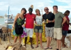 With Marisa, Luis, Denise, Ricardo at Morro de São Paulo port where provisions are unloaded for restaurants