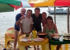 A beach-side lunch with a lovely retired Brazilian couple
