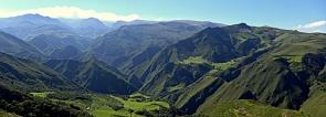 The emerald Andean valleys leaving Isinliví village
