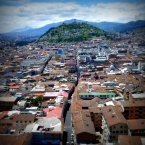 Fine view of El Panecillo hill overlooking Quito's Old Town