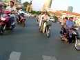Motorbikes abound on all of HCMC's streets.  Crossing takes some practice (and nerve)