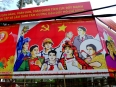 Communist propaganda on billboards throughout HCMC