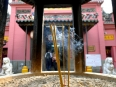 Joss sticks slowly churning out incense at the Thien Hau Temple, Ho Chi Minh City